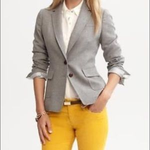 Banana Republic Gray Flannel/Wool hacking jacket